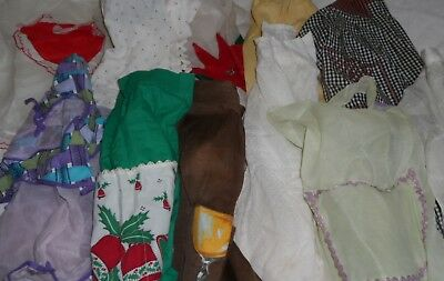 Lot Of 11 Vintage Half Aprons Christmas Valentines Retro Pre Owned