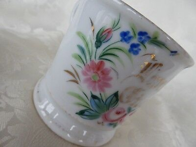 Victorian Antique Hand-Painted Porcelain LOVE THE GIVER CUP MUG VALENTINE GIFT