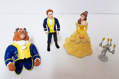 Disney Bullyland - BELLE, PRINCE ADAM & THE BEAST FIGURES - Transforming
