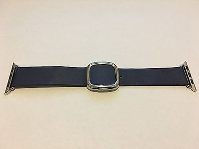 Genuine Apple  Watch Band -  38mm Midnight Blue Modern Buckle LARGE size