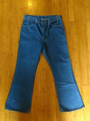 RARE NWT 1970's Vintage Levis Orange tab Denim Jeans Bell Bottoms Sz 36x30