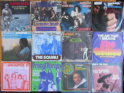 "7"" VINYL SINGLES SAMMLUNG LOT : 66 x BEAT POP ROCK OF THE 60th-70th BUNDLE"