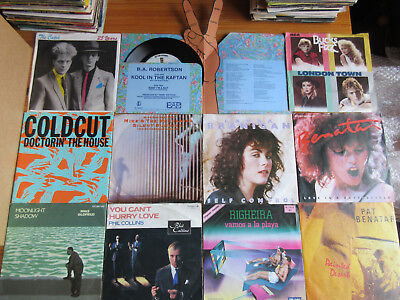 "7"" VINYL SINGLES SAMMLUNG LOT : 66 x POP & DISCO OF THE 80th HITS & RARITÄTEN"