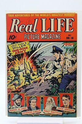 Real Life Picture Magazine no 18 Schomburg War Cover One Man Army