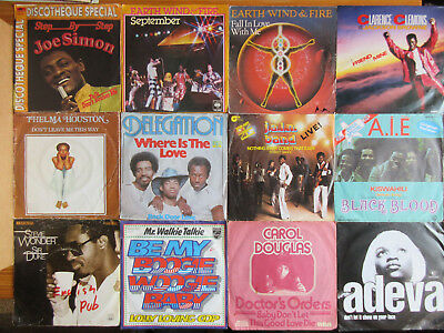 "7"" VINYL SINGLES SAMMLUNG LOT : 60 x BLACK MUSIC : SOUL FUNK R&B POP DISCO HITS"