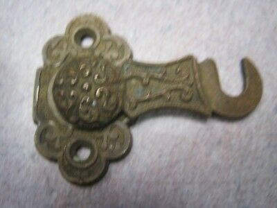 antique Vintage interior Shutter latch lock Cabinet Victorian brass eastlake