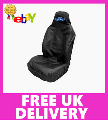 FORD Car Sports Recaro Seat Cover Protector in Black / Fits FORD ESCORT RS