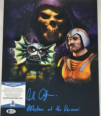Alan OPPENHEIMER SIGNED 11x14 Photo SKELETOR MERMAN BECKETT BAS COA 407 MOTU