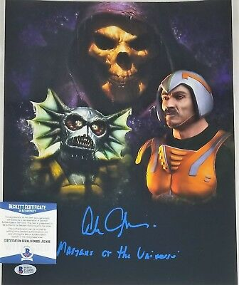 Alan OPPENHEIMER SIGNED 11x14 Photo SKELETOR MAN-AT-ARMS BECKETT BAS COA 406