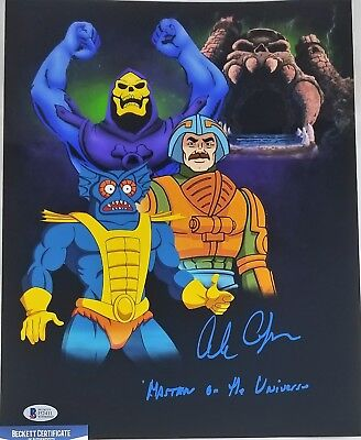 Alan OPPENHEIMER SIGNED 11x14 Photo SKELETOR MERMAN BECKETT BAS COA 411 MOTU