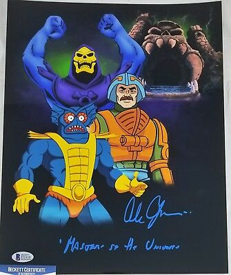 Alan OPPENHEIMER SIGNED 11x14 Photo SKELETOR MERMAN BECKETT BAS COA 410 MOTU