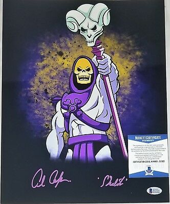 Alan OPPENHEIMER SIGNED 11x14 Photo SKELETOR MOTU BECKETT BAS COA 325 FILMATION