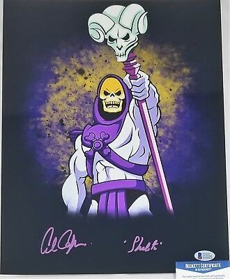 Alan OPPENHEIMER SIGNED 11x14 Photo SKELETOR MOTU BECKETT BAS COA 324 FILMATION