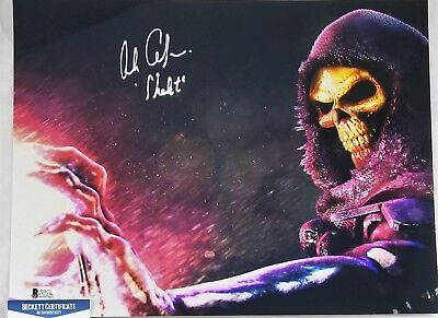 Alan OPPENHEIMER SIGNED 11x14 Photo SKELETOR MOTU BECKETT BAS COA 236 FILMATION