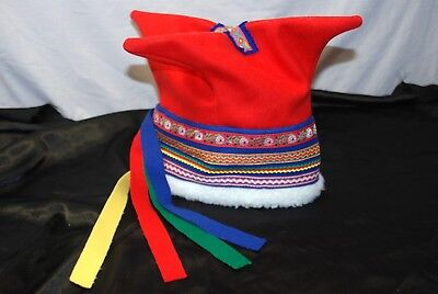 Authentic Sámi/ Saami/ Sami/ Finno Ugric/ Laplander Four Winds Wool Hat