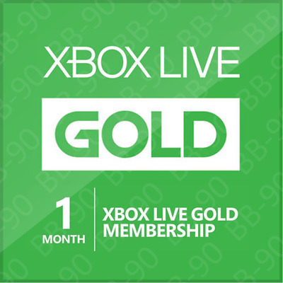 Xbox Live - 1 Month Gold Membership Subscription - Free Shipping (Xbox One/360)