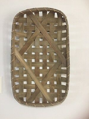 """Large Tobacco Basket  16x 24""""  Farmhouse Country  Kitchen Rustic wall decor"""