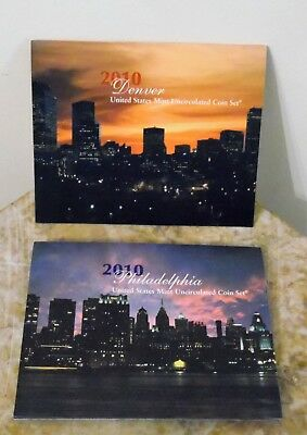 2010 US Mint Annual Uncirculated Coin Set 28 Coins Philadelphia and Denver Coins