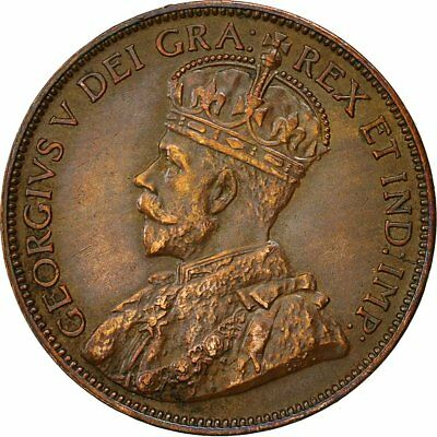 [#492087] Coin, NEWFOUNDLAND, George V, Large Cent, 1913, MS(60-62), Bronze, KM