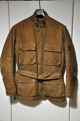 Belstaff Gold Label Men's Brown Waxed Wax Roadmaster Jacket L Large