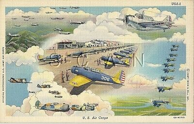WWII US Army Air Force PC- Airplane- US Air Corps- Fighters- Bombers- Transport