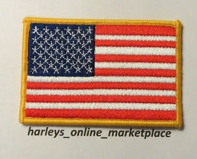 American flag sew on biker patch, ships free from USA