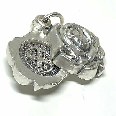 🔥  Saint Benedict SMALL Medal - Catholic Exorcism - BLESSED BY POPE - Pendant