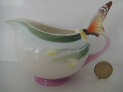 Rare Franz Porcelain Papillon Butterfly Jug Pitcher From Afternoon Teaset Xp1907