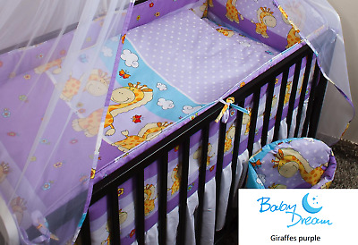 Brand New 2 Piece Cot Quilt Cover Set European Design 100% Cotton
