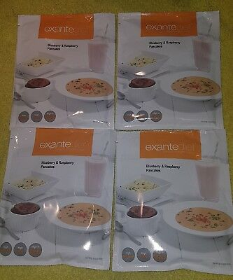 Exante diet meal replacement Burberry and raspberry pancake x4 packs