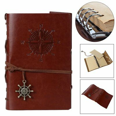 Refillable Journal Travel Notebook Leather Notepad Blank Diary Memo Sketchbook