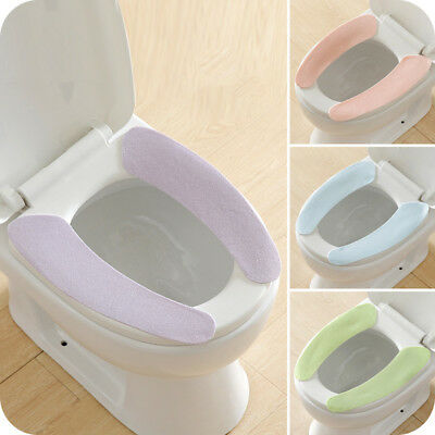2X Bathroom Warmer Toilet Seats Closestool Washable Soft Seat Cover Pad Cushion