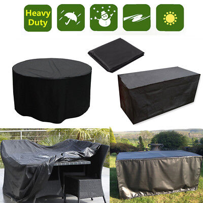 Round/Rectangle Waterproof Outdoor Garden Furniture Rain Covers Dust Protection