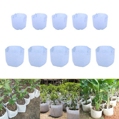 5/15pack 5/15Gallon Fabric Grow Bags Plant Pots Container Corrosion-Resistant