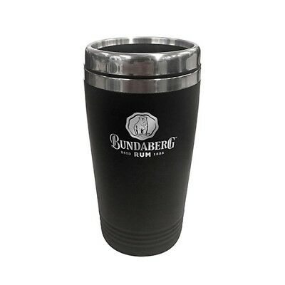 124613 Bundaberg Bundy Rum 450Ml Matte Black Stainless Steel Thermal Travel Mug