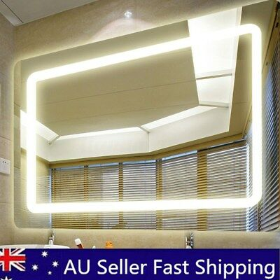 800x600mm LED Bathroom Wall Mirror Illuminated Light Anti-fog with Touch Button