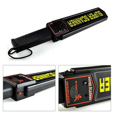 Handheld Metal Detector Portable Security Super Scanner Wand Airport Scan New
