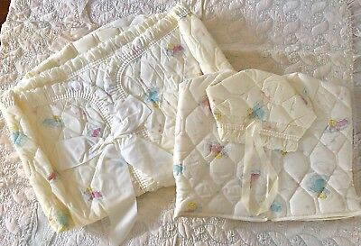 2 pc Vtg 1950s Infant Baby Bunting & Jacket/Hood EUC  Quilted  Reborn Doll
