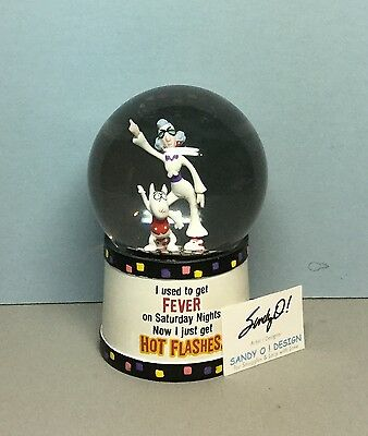 Hallmark MAXINE & FLOYD Snowglobe /Fever on Sat. Nights/now Hot Flashes (EUC)