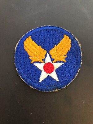 ORIGINAL WW2 Vintage US ARMY AIR FORCE PATCH USAAF Cut Edge