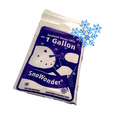 SnoWonder Instant Artificial Snow - Mix Makes Fake Snow - Play, Science, SLIME