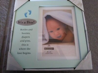 Its A Baby Boy Picture Frame by Malden 4 x 6