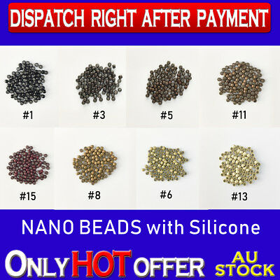 100 Silicone Lined Nano Micro Ring Beads for applying Nano Ring Hair Extensions