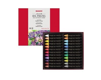 Mungyo  Extra Soft Water Soluble Oil Pastels Set of 24 - Pearl Color