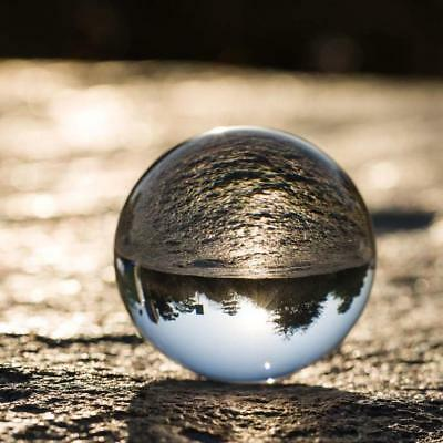 Clear Glass Crystal Ball Healing Sphere Photography Props Gifts 30/50/80  zzvv