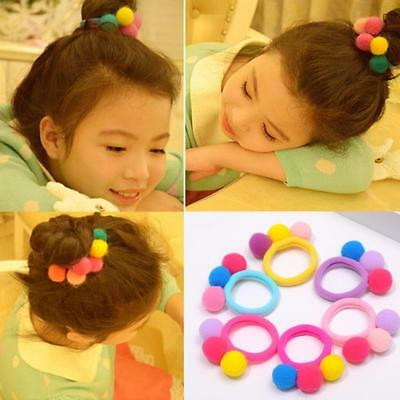 3X Cute 3 Balls Elastics Hair Holders Bands Gum Lovely Candy Kids Girls R ffvv