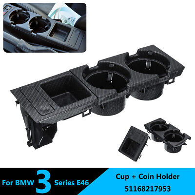Front Center Console Drink Cup Coin Holder Box For BMW 3 Series E46 51168217953