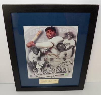 Jackie Robinson Signature Cut with Photograph - Framed Lot 11