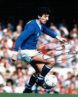 Terry CURRAN Signed Autograph 10x8 Everton FC Photo AFTAL COA