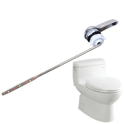 1xUniversal Toilet Tank Flush Lever Chrome Toilet Wrench Handle Fit Most  CLLL